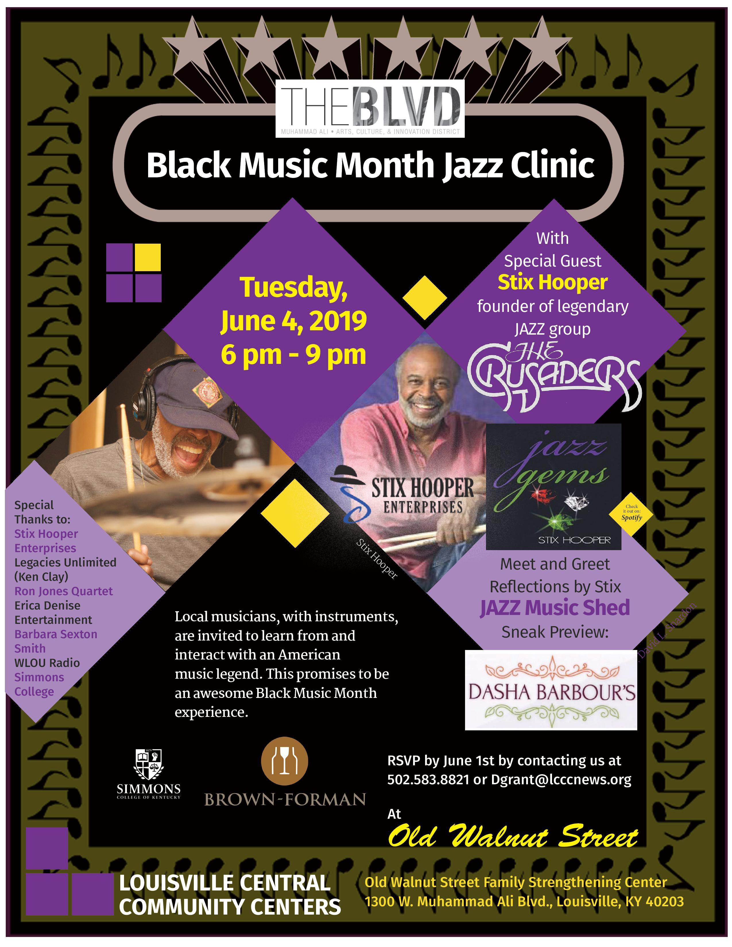 Black Music Month Jazz Clinic