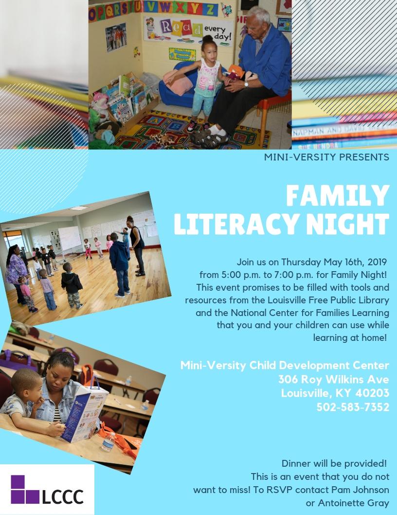 Family Literacy Night at Miniversity