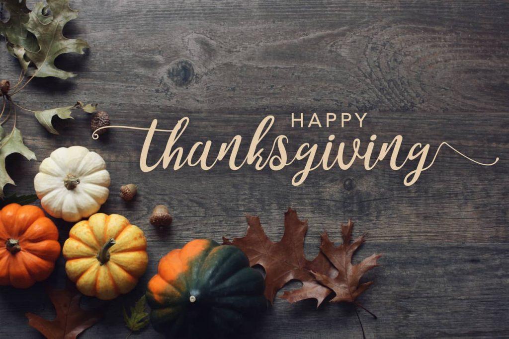 Happy Thanksgiving Agency Closing