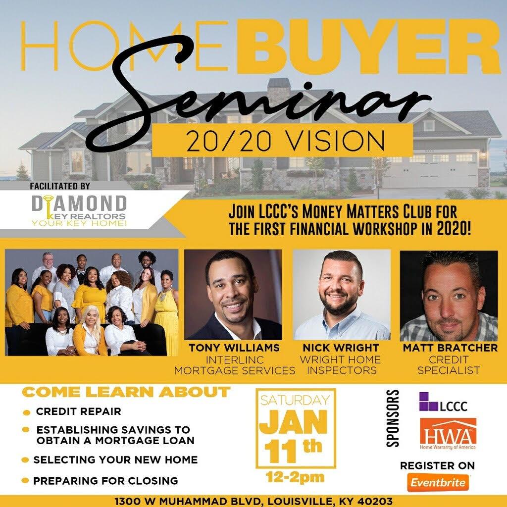 LCCC and Diamond Key Realtors Presents Home Buyer Seminar
